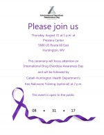 Overdose Awareness Day, 8/31/17 at 1:00pm
